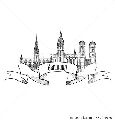 German city landmarks view Travel Germany sign 35214970