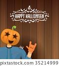 vector Happy halloween creative hipster party 35214999