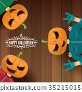 vector Happy halloween creative hipster party 35215015