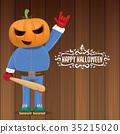 vector Happy halloween creative hipster party 35215020