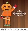 vector Happy halloween creative hipster party 35215033