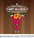 vector Happy halloween creative hipster party 35215034