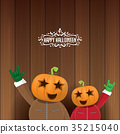 vector Happy halloween creative hipster party 35215040