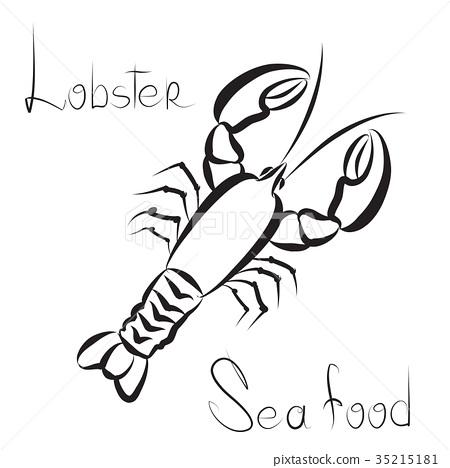 Lobster Icon Seafood Sign Fish Menu Background