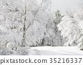 winter, snow scene, snowscape 35216337