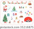 คริสต์มาส,ซานต้า,หน้าต่าง 35216875