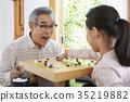 할아버지,손녀 35219882