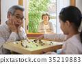 Grandfather, grandmother, granddaughter 35219883