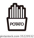 炸土豆 馬鈴薯條 薯條 35220532