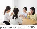 喝茶的中年婦女 35222050