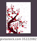 Vector Cherry blossom for Chinese New Year  35222082