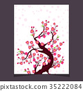 Vector Cherry blossom for Chinese New Year  35222084