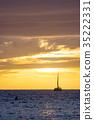 夕陽 日落 海 35222331