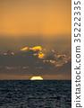 日落 夕陽 海 35222335