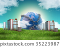Real estate concept with earth 35223987