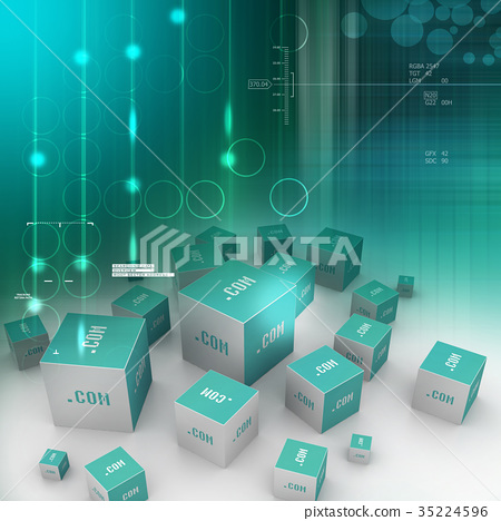 Dot com domain in cubes 35224596