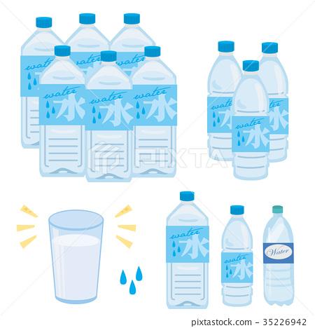 水 塑料瓶 矢量 35226942