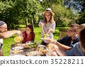 friends, dinner, summer 35228211