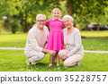 granddaughter, park, senior 35228757