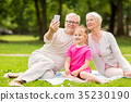 granddaughter, selfie, senior 35230190