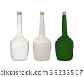 bottle glass isolated on white background 35233507