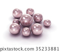 Pink pearls with clipping path 35233881