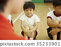 Kids at the gym class teaching instructional story 35233901