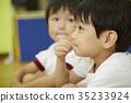 체조 교실지도 이야기를 듣고 아이들 35233924