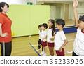 体操课教学 35233926