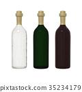 Set of bottle glass isolated on white background 35234179