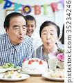老人 生日派對 蠟燭 35234246