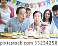 三代家庭慶祝 35234258
