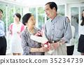 老年夫婦 慶典 祝賀 35234739