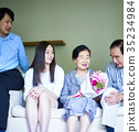 年長的夫婦 年長夫婦 老兩口 35234984
