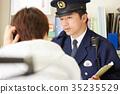 男子在警察的箱子裡說話 35235529