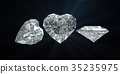 Diamond heart shape with clipping path 35235975