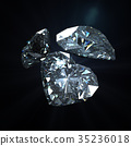 3 diamond heart shape with clipping path 35236018
