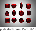 Group of  garnet  shape with clipping path 35236023