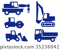 construction vehicle, icon, icons 35236042