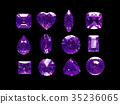 Group of violet topaz with clipping path 35236065
