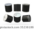 Black blank food  tin can  with pull tab 35236186