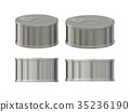 Blank aluminum tin can set with pull tab 35236190