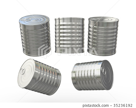 Blank cylindrical tin can with pull ring 35236192