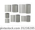 Set of aluminum  tin cans in various sizes 35236285