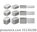 aluminum rectangle  tin cans in various sizes 35236286