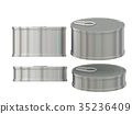 cylindrical blank aluminum  tin can with pull tab 35236409