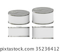 cylindrical white label  tin can with pull tab 35236412