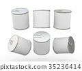 White blank food  tin can  with pull tab 35236414