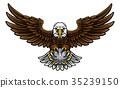 eagle, golf, mascot 35239150