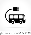 bus electric icon 35241175